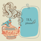 Tea or coffee frame Royalty Free Stock Photography