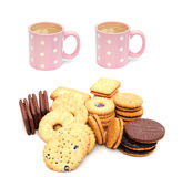 Tea and coffee mugs Stock Photography