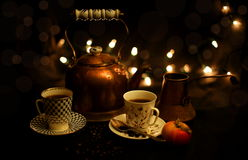 Tea and Coffee Party Stock Photo
