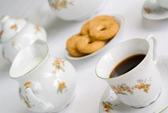 Tea or coffee set Royalty Free Stock Photography