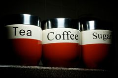 Tea Coffee Sugar Stock Photo