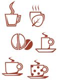 Tea and coffee symbols vector illustration