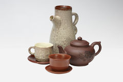 Tea and coffee tableware Royalty Free Stock Image