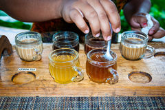 Tea and coffee tasting in indonesia Stock Photography