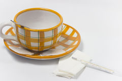 Tea for coldness. Alternative treatment for coldness - object photography stock photo