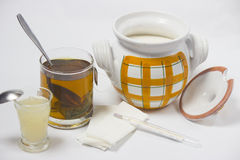 Tea for coldness. Alternative treatment for coldness - object photography royalty free stock images