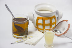 Tea for coldness. Alternative treatment for coldness - object photography stock images