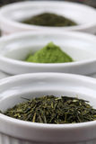 Tea collection - bancha or sencha green tea Stock Photography