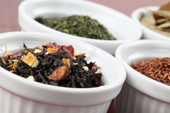 Tea collection - flavored black tea Stock Photo