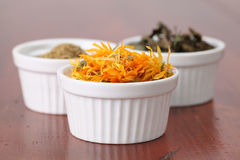 Tea collection - pot marigold Royalty Free Stock Photo