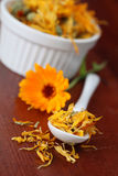 Tea collection - pot marigold Royalty Free Stock Photo