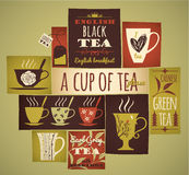 Tea collection. Stock Photos