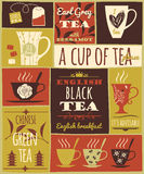 Tea collection. Royalty Free Stock Photos