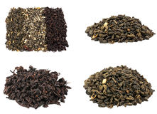 Tea collection  on white background. Scented tea collection  on white background Royalty Free Stock Image