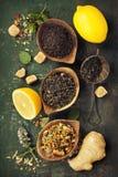 Tea composition Stock Images