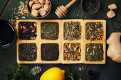 Tea composition Stock Image