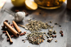 Tea composition closeup Stock Photography