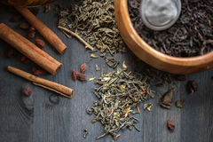 Tea composition closeup Stock Images