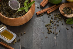 Tea composition closeup Royalty Free Stock Photo
