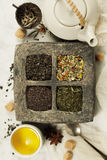 Tea composition with different kind of tea. Stock Images