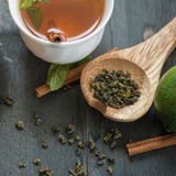 Tea composition set Stock Photography