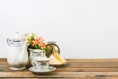 Tea composition, tea set, picture style vintage Stock Photography