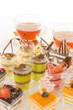 Tea and confectionery Stock Image
