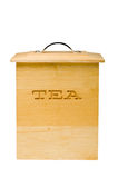 Tea Container. An Isolated wooden tea container Stock Photos