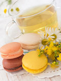 Tea with coockies Stock Photography