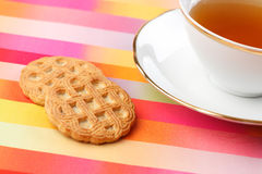 Tea and cookie Stock Photo