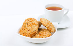 Tea and cookie Stock Photos
