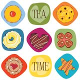 Tea cookies Royalty Free Stock Photos