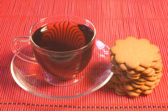 Tea and cookies Stock Images