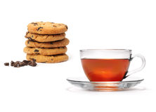Tea and cookies Royalty Free Stock Photography
