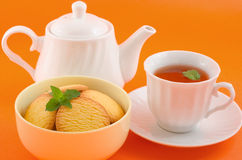 Tea and cookies Stock Image