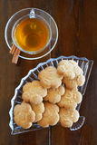 Tea with cookies Royalty Free Stock Photos