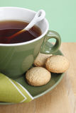 Tea and cookies close-up Royalty Free Stock Image