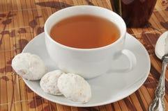 Tea and cookies Stock Photos