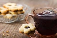 Tea and cookies Royalty Free Stock Photos