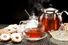 Tea and cookies Royalty Free Stock Image