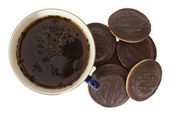 Tea with cookies Stock Photography