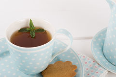 Tea with cookies Stock Photo