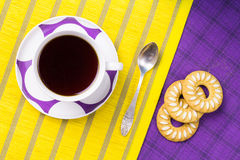 Tea with cookies Royalty Free Stock Photo