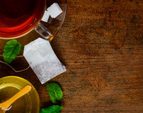 Tea and Copy-Space Stock Image