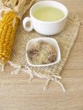 Tea with corn silk, Maydis stigma. Cup of tea with corn silk, Maydis stigma Stock Photo