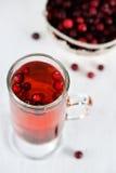 Tea with cranberry Stock Photos