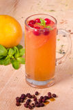 Tea with cranberry and grapefruit Royalty Free Stock Image