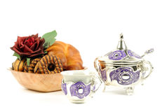 Tea and croissant Royalty Free Stock Photo