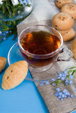 Tea with croissants Royalty Free Stock Photography