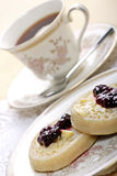 Tea and crumpets Royalty Free Stock Photos